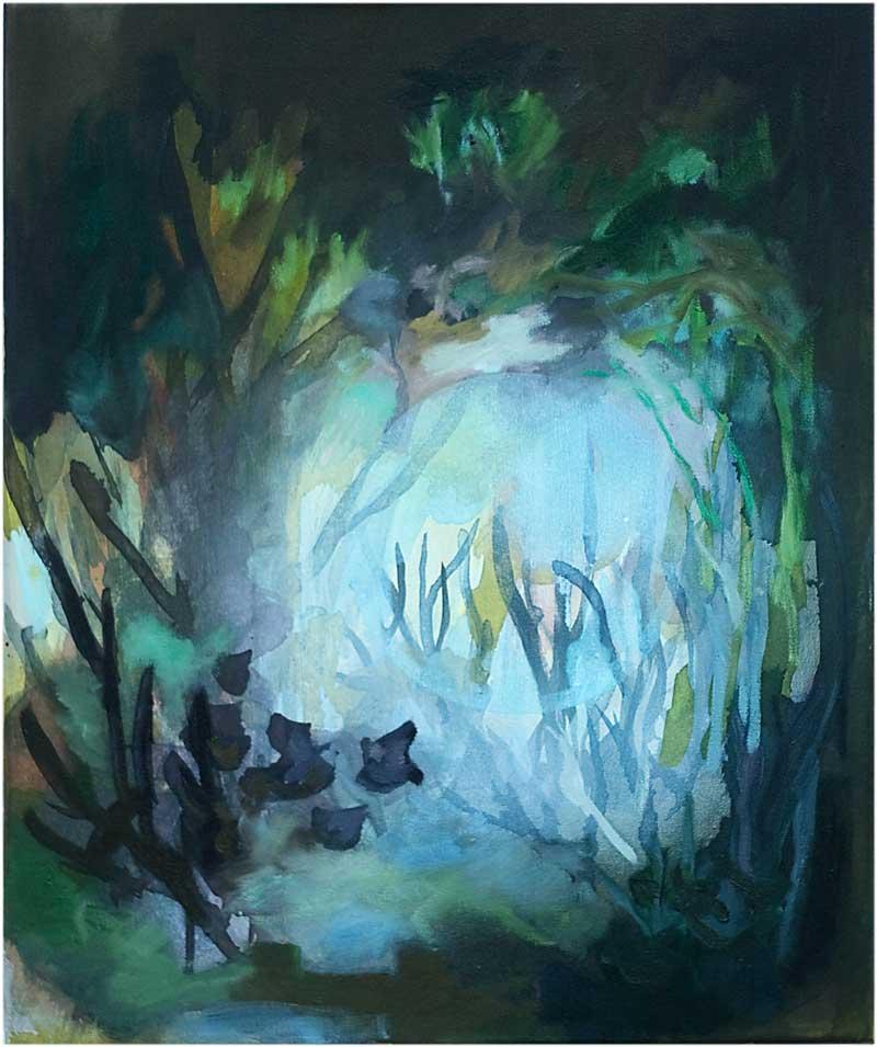 Katharina Ismer - Schlaflos Mond - Kunstausstellung - Treuhand